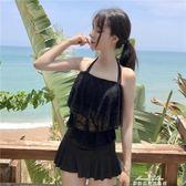 分體裙式泳衣兩件套保守遮肚泳裝女夏蕾絲聚攏顯瘦韓國溫泉游泳衣『夢娜麗莎精品館』