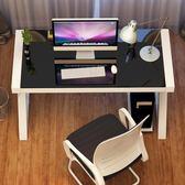 凡積簡約現代 鋼化玻璃電腦桌臺式家用辦公桌 簡易學習書桌寫字臺 IGO