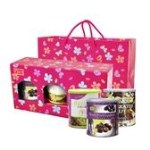 『康健生機』喜洋洋風味禮盒/附提袋(金牌黑棗+養生果仁+紅寶石葡萄乾)~特價促銷
