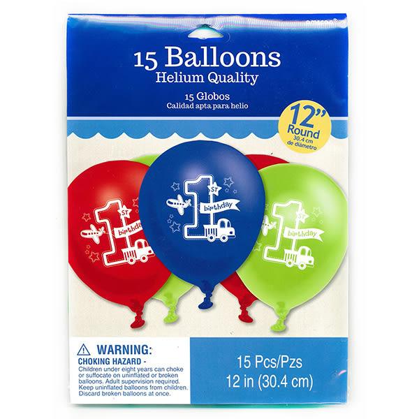 12吋乳膠氣球15入-汽車王國