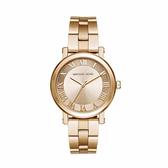 【MICHAEL KORS】37mm金面羅馬數字指針腕錶 MK3560