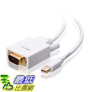 [美國直購 ShopUSA] Cable Matters Gold Plated Mini DisplayPort | Thunderbolt to VGA Cable in White 10 Feet   $941