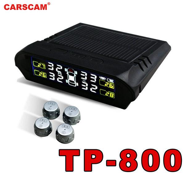 【CARSCAM】行車王 TP-800 太陽能胎壓偵測器 四輪顯示/無線 蜂嗚提醒