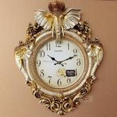歐式客廳掛鐘吉祥大象鐘表奢華現代時尚創意超靜音時尚石英鐘 居享優品