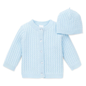 Little me 針織外套+帽子 藍色 | 男寶寶衣服(嬰幼兒/小孩/baby)