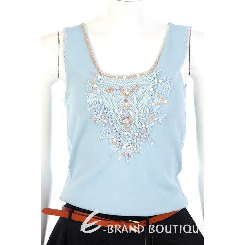 ROBERTA SCARPA 水藍色珠飾點綴兩件式上衣 0630436-27