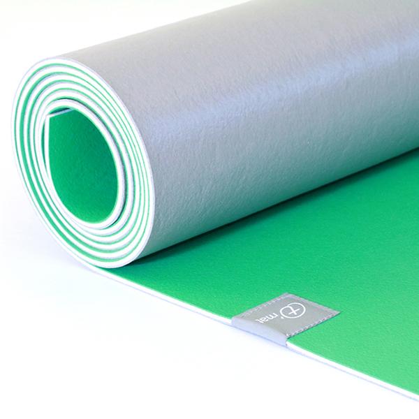 Taimat 天然橡膠瑜珈墊 183cm (附簡易揹帶) - 山水系列 - 綠色 / 灰色