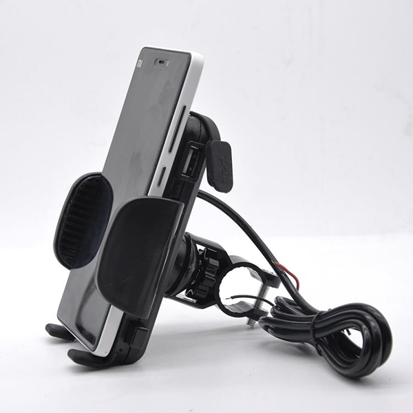 機車手機支架可充電帶開關USB充電器腳踏車支架 導航架 騎行裝備