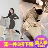 短裸靴女季新款馬丁靴踝靴細跟百搭高跟鞋冬天瘦瘦小短靴