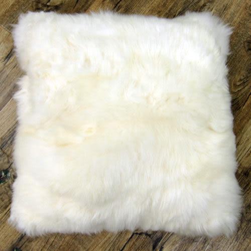 范登伯格-羊毛超柔立體單面抱枕/靠枕-(白)40x40cm
