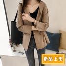 【698】秋季韓版中長款寬鬆連帽風衣外套(2色/M-L)