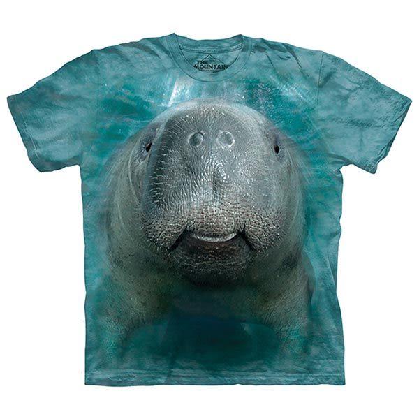 【摩達客】(預購)美國進口The Mountain 海牛臉 純棉環保短袖T恤(10415045049)