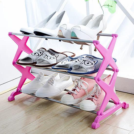 ♚MY COLOR♚DIY簡易三層鞋架 居家 收納 鞋櫃 多層 臥室 立式 輕便 置物 時尚 角落 整理【W41】