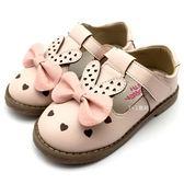 《7+1童鞋》Children 愛心縷空 兔兔蝴蝶結 護趾涼鞋 休閒鞋 娃娃鞋 D616 粉色