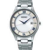 【台南 時代鐘錶 SEIKO】精工 SPIRIT 太陽能鈦金屬腕錶 SBPX113J@V157-0CZ0S 白/銀 39mm