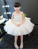 熊孩子❤兒童禮服裙女公主裙(白色)