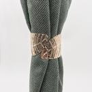 紗簾專用窗簾夾輕奢金屬綁帶北歐 合金款ins綁繩創意免安裝窗簾扣 玫瑰