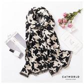 Catworld 經典千鳥格仿羊絨圍巾【18003442】‧F