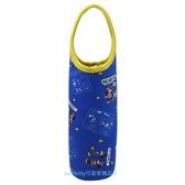 asdfkitty可愛家 米奇米妮藍色保溫保冷手提水壺袋/水壺套-日本正版商品