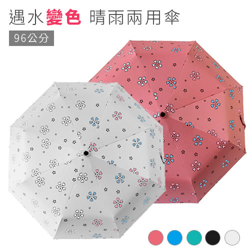 抗UV自動折疊傘-96公分 碳纖維自動開合 變色晴雨傘《SV7010》快樂生活網