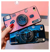 iPhone 6 6s Plus 全包手機殼 藍光手機套 復古相機保護殼 氣囊支架 防摔保護套 矽膠軟殼 情侶款背殼
