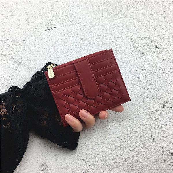 零錢包 卡包女超薄小巧拉鏈零錢袋復古多卡位證件卡套ins韓新款簡約卡夾 艾維朵