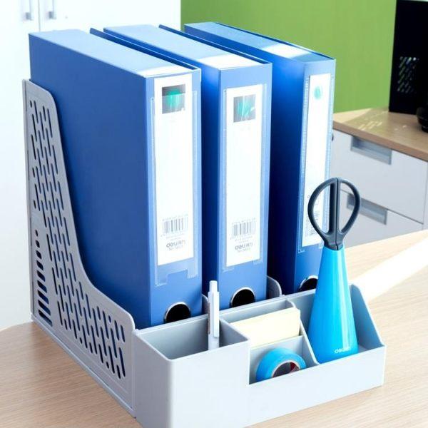 聖誕節交換禮物-文件架資料架桌面辦公室文件夾收納架文件框多層簡易桌上書架交換禮物