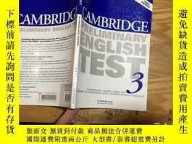 二手書博民逛書店cambridge罕見preliminary english test (3)Y19583 看圖 看圖 出版