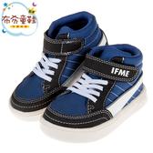 《布布童鞋》日本IFME紳士線條海軍藍超輕量中筒兒童機能運動鞋(15~19公分) [ P9S213B ]