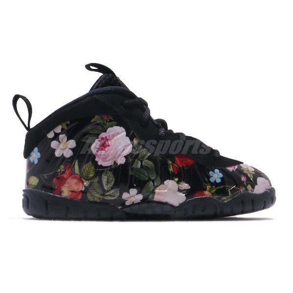 quality design e0635 9fcc4 ... Nike Little Posite One Prm TD Floral 黑彩色花卉圖騰太空鞋童鞋小童鞋 ...