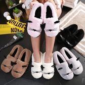 棉拖鞋女包跟厚底防滑冬季可愛居家保暖月子拖鞋防滑月子鞋xx8601【Pink中大尺碼】