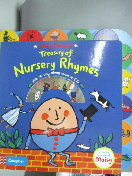 【書寶二手書T1/語言學習_DJ6】Treasury of Nursery Rhymes_Lucy Cousins