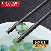 筷子家用酒店合金筷日式筷子餐廳復古快子套裝10雙消費滿一千現折一百