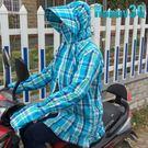 機車防曬衣100%全棉防曬紫外線抗UV披肩連帽透氣-黑/藍/橘/粉/紅【AAA0265】預購