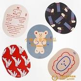 韓版可愛卡通橢圓形家用辦公鼠標墊子IG風防滑女游戲滑鼠墊品牌【小獅子】