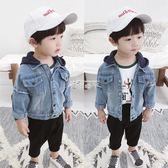 男童外套 男童牛仔外套秋季新款韓版兒童長袖牛仔衣1-3歲寶寶連帽外套 俏腳丫