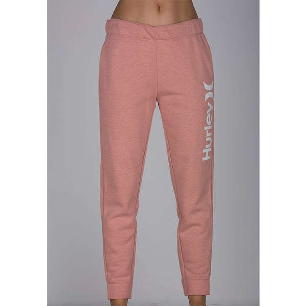 HURLEY|女 ONE & ONLY FLEECE PANT 長褲-粉紅