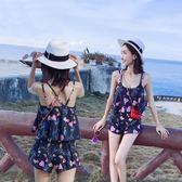 泳衣女三件套分體套裝學生韓國溫泉小香風顯