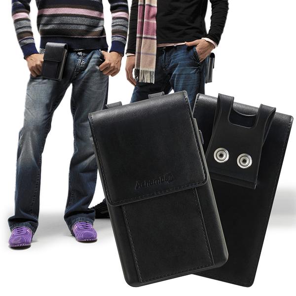 Achamber for iPhone Xs Max 酷炫通腰掛皮套-可裝兩支手機