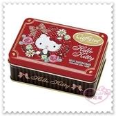 ♥小花花日本精品♥ Hello Kitty 小鐵盒 聖誕節限定 巧克力 紅色 坐姿 吸手指 蝴蝶結 99939304