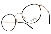 CARIN 光學眼鏡 JUDE BARRY C1 (黑-金) 韓星秀智代言 質感簡約鏡框 # 金橘眼鏡