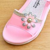 公主鞋女童涼鞋新品兒童夏季寶寶涼拖女童鞋小孩防滑軟底公主水 童趣屋