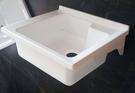 【麗室衛浴】台灣優質品牌 人造石壁掛洗衣槽P-366  605*540mm  含白鐵架