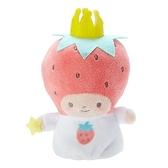 小禮堂 草莓國王 手指娃娃 絨毛 玩偶 指偶 手偶 布偶 玩具 (紅白) 4550337-41018
