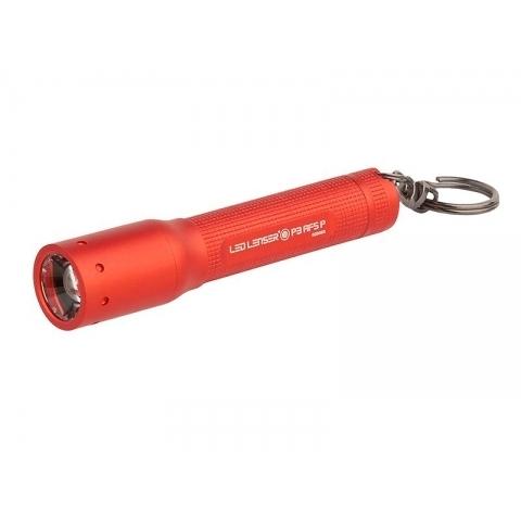 丹大戶外【LED LENSER】德國 鑰匙圈系列 P3 AFSP 伸縮調焦手電筒 75流明 紅 1020