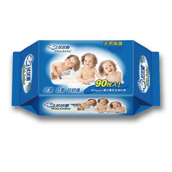 拭拭樂 嬰兒柔濕巾-藍包裝 (90抽/4包) 濕紙巾【杏一】