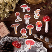 【BlueCat】蘑菇採集錄盒裝貼紙 手帳貼紙 (45入)