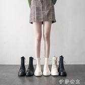 馬丁靴女馬丁靴女潮ins英倫風新款瘦瘦鞋春秋單靴夏季薄款厚底短靴子【快速出貨】