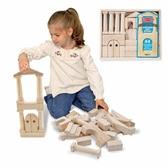 中世紀風格積木M D 兒童幼兒教具玩具道具遊戲社會扮演想像創造建構 組裝玩偶積木模型拼接