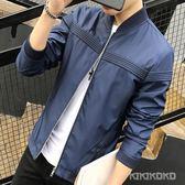 新款潮流韓版修身夾克帥氣棒球服外套LVV4452【KIKIKOKO】